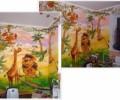 Акриловая роспись стен в детской комнате, Роспись в детской — Роспись стен